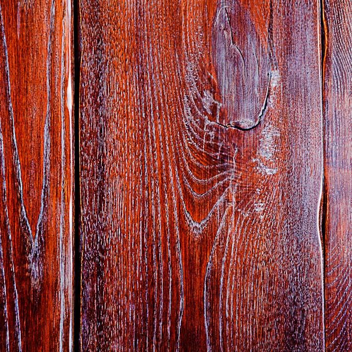 particolare del legno nel sottoscala